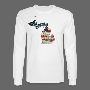 State and Country - Men's Long Sleeve T-Shirt