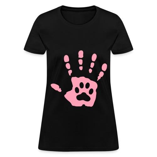 Hand & Paw Print T-Shirt - Women's T-Shirt
