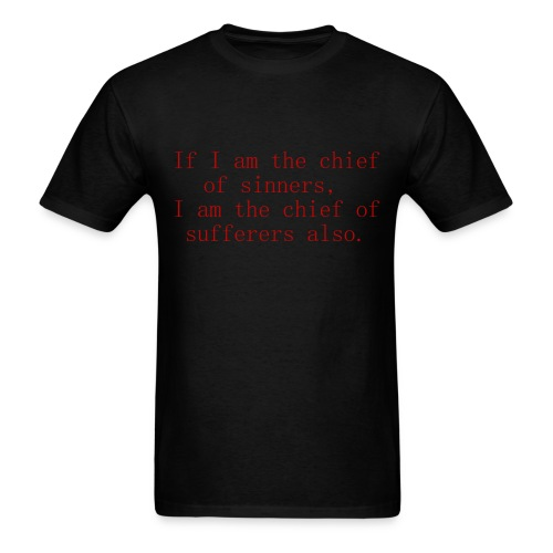 Chief of sinners... WITH LOGO - Men's T-Shirt