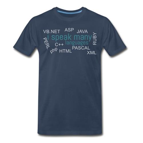 I speak many languages - Men's Premium T-Shirt