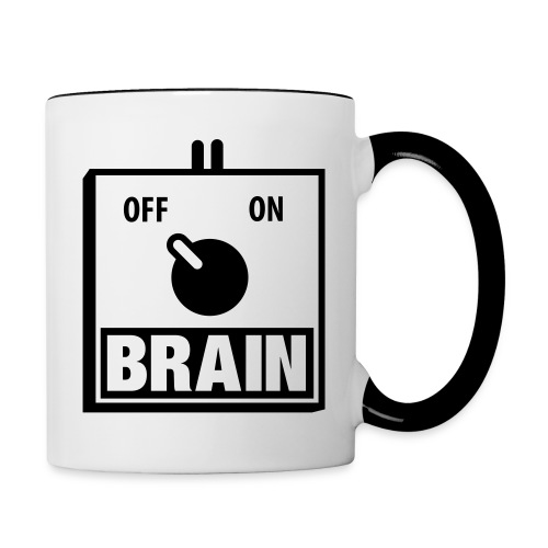 Brain coffee - Contrast Coffee Mug