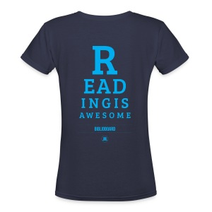 Women's BiblioBoard Reading Is Awesome V-Neck - Women's V-Neck T-Shirt