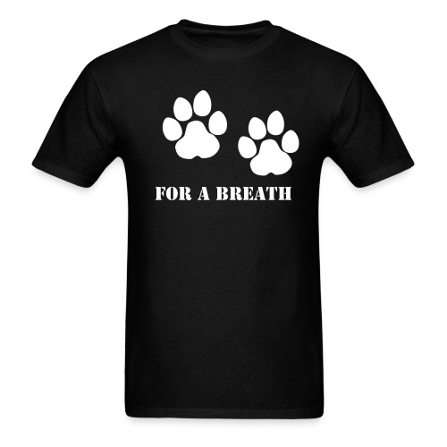 paws for a breath T-shirt - Men's T-Shirt
