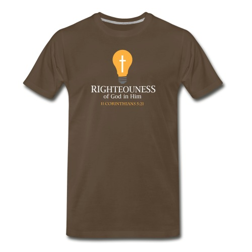 The Righteousness of God in Him - Men's Premium T-Shirt