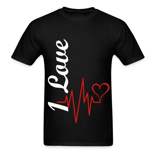 Black 1 Love T-Shirt - Men's T-Shirt