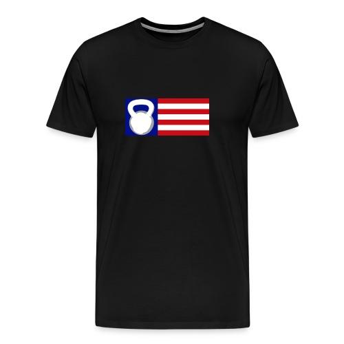 Kettlebell Flag - Men's Premium T-Shirt