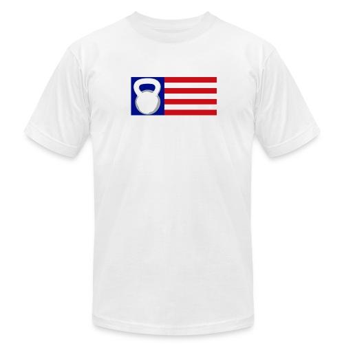Kettlebell Logo Men's T-Shirt by American Apparel  - Men's Fine Jersey T-Shirt