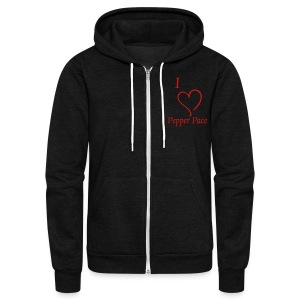 Unisex I love Pepper Pace zipper hoodie - Unisex Fleece Zip Hoodie by American Apparel