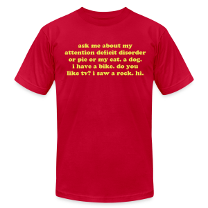 Attention Deficit Disorder - Men's Fine Jersey T-Shirt