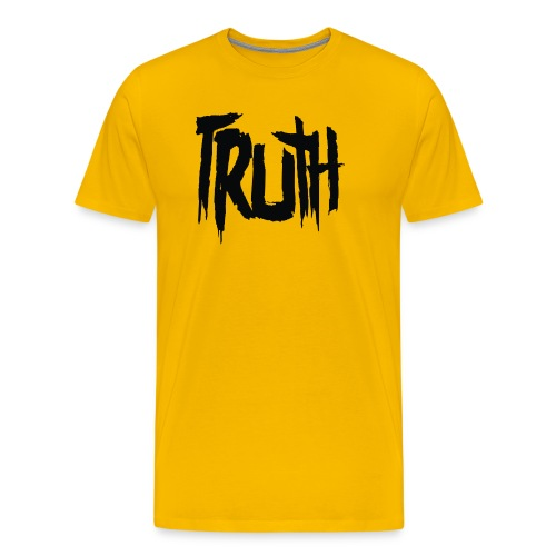TRUTH Logo Shirt - Yellow Men's - Men's Premium T-Shirt