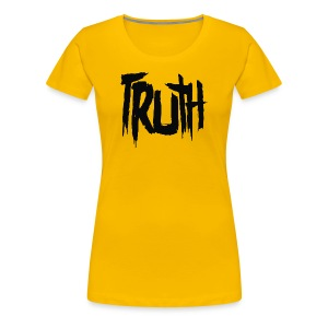 TRUTH Logo Shirt - Yellow Women's - Women's Premium T-Shirt