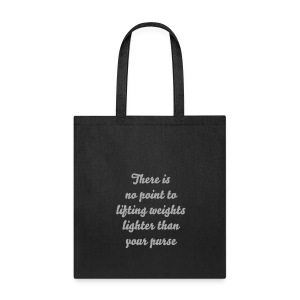 Lifting Purse Tee - Tote Bag