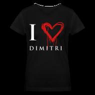 Women's T-Shirts ~ Women's V-Neck T-Shirt ~ I heart Dimitri