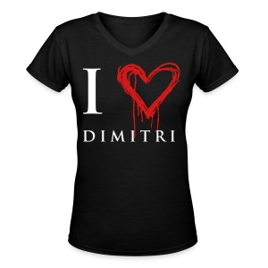 I heart Dimitri - Women's V-Neck T-Shirt