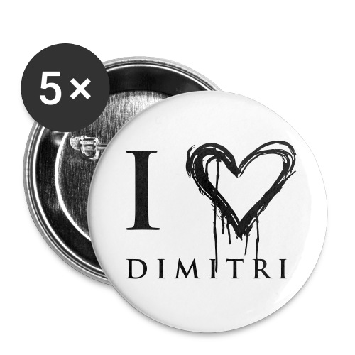 I heart Dimitri  - Buttons large 2.2'' (5-pack)