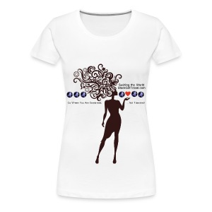Swirling the World - Multi Color  - Women's Premium T-Shirt