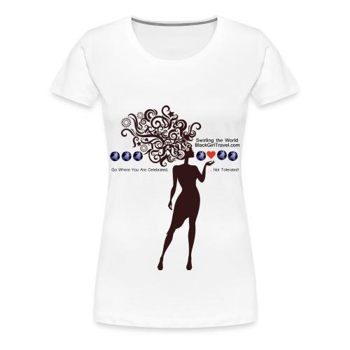 Swirling the World - Multi Color  - Women's Premium T-Shirt
