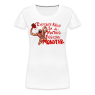 Women's T-Shirts ~ Women's Premium T-Shirt ~ MOTHER F@#$IN F