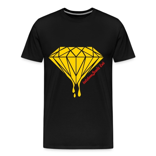 Cutztom Jewlz Ent Mens Diamond Tee  - Men's Premium T-Shirt