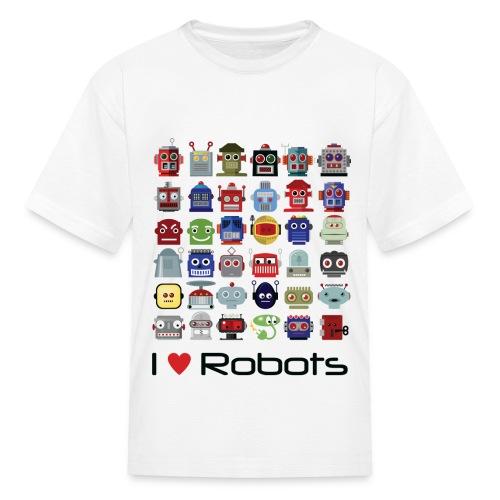 I love robots t-shirt - Kids' T-Shirt