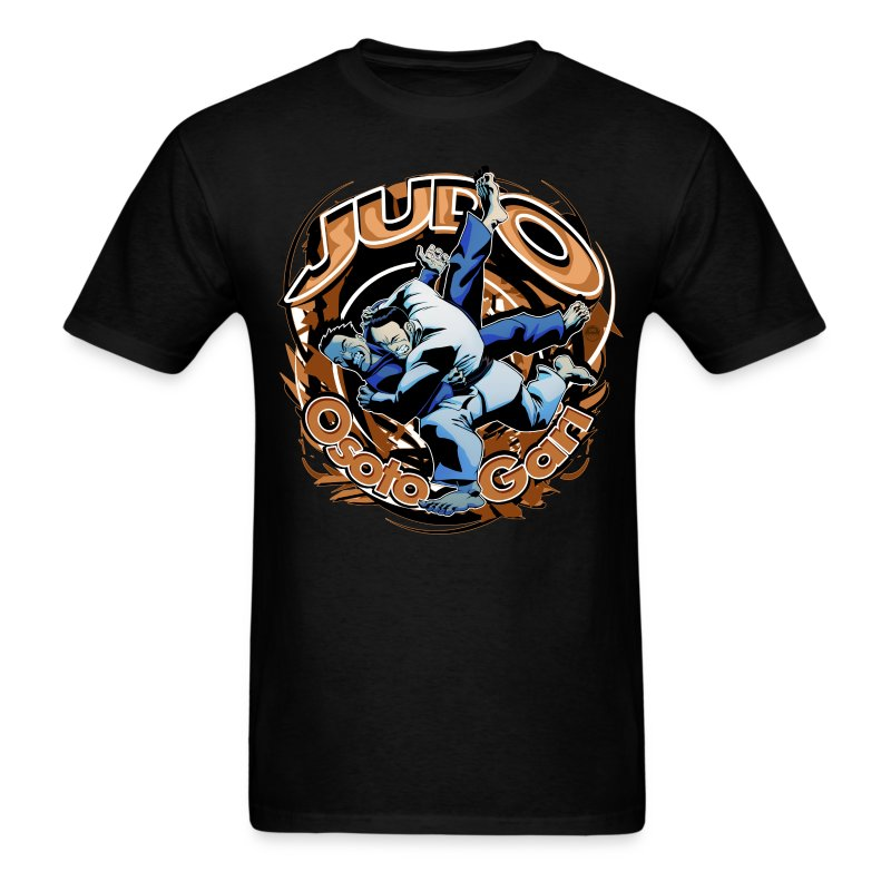 Black Judo Osoto Gari Mens T-shirt - Men's T-Shirt