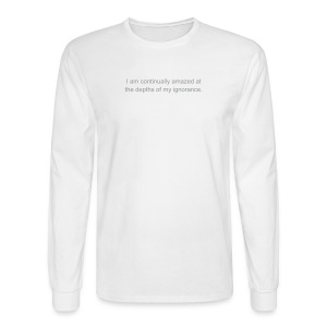 Continually amazed mens' long-sleeved T white - Men's Long Sleeve T-Shirt