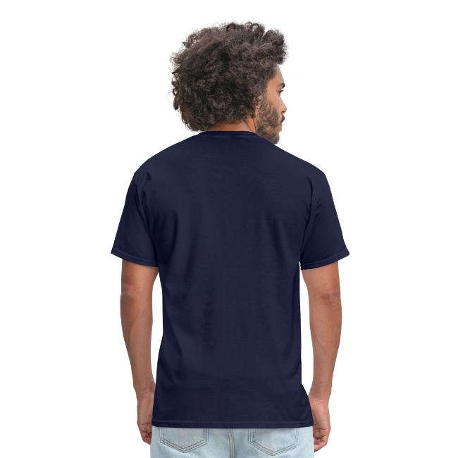 Born to Disc Golf Forced To Work - Men's Standard Weight Shirt - White Print