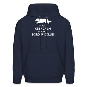 I Can't Keep Calm Border Collie Hoodie - Men's Hoodie