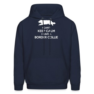 I Can't Keep Calm Border Collie Hoodie - Men's Hoodie