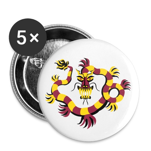 Red Dragon Pin - Large Buttons