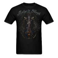 T-Shirts ~ Men's T-Shirt ~ Rock n Roll Rough n Loud Guitar pistons Rockabilly