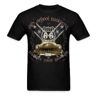 T-Shirts ~ Men's T-Shirt ~ oldschool customs Hot Rod route 66 mercury