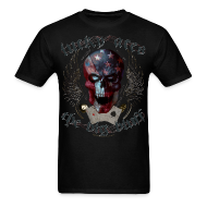 T-Shirts ~ Men's T-Shirt ~ Lucky Aces Skull Gambler the big bluff tattoo