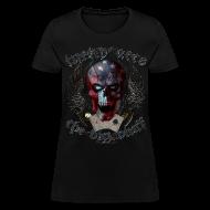 Women's T-Shirts ~ Women's T-Shirt ~ Lucky Aces Skull Gambler the big bluff tattoo