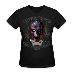 Lucky Aces Skull Gambler the big bluff tattoo - Women's T-Shirt