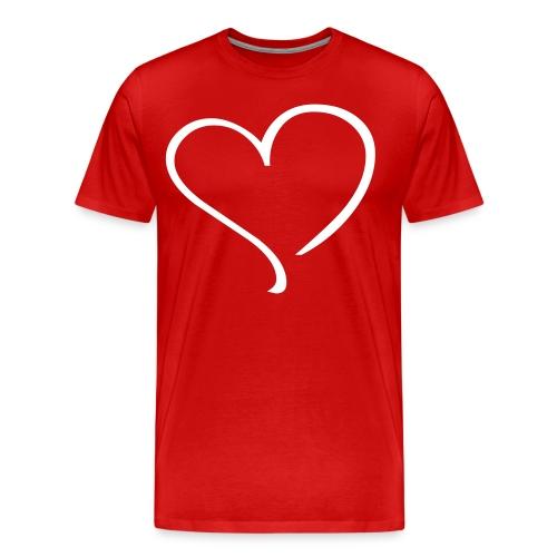 Men's BIG HEART T - Men's Premium T-Shirt
