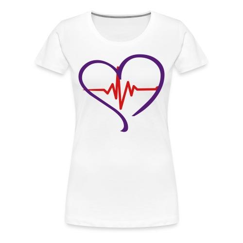 Women's I'M ALIVE - Purple Heart T - Women's Premium T-Shirt