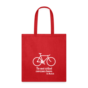 Iris Murdoch tote bag red - Tote Bag