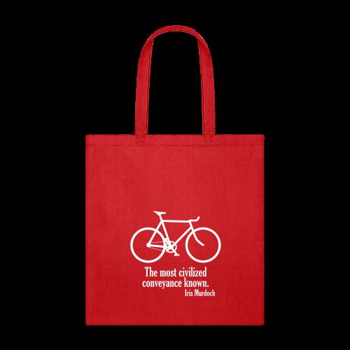 Iris Murdoch tote bag red - Tote Bag
