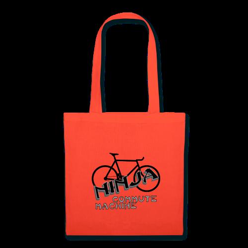 ninja commute machine tote bag red - Tote Bag