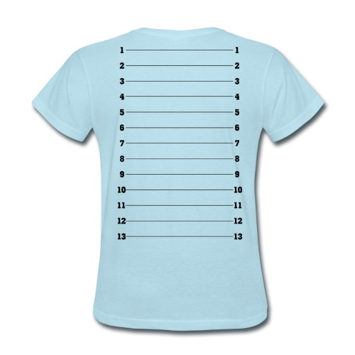 Hair Length Check Tee - Black Numbers - Women's T-Shirt