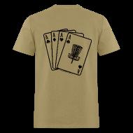 T-Shirts ~ Men's T-Shirt ~ Disc Golf Aces Playing Cards - Black Print on Back - Standard Weight Shirt - Men's