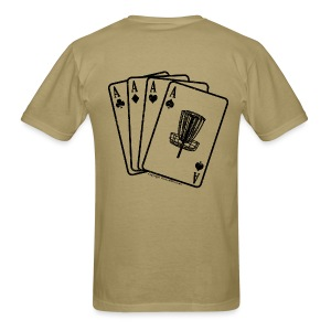 Disc Golf Aces Playing Cards - Black Print on Back - Standard Weight Shirt - Men's - Men's T-Shirt