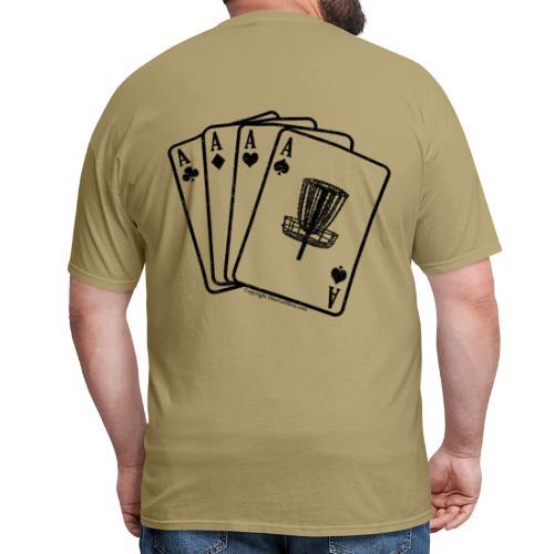 Disc Golf Aces Playing Cards - Black Print on Back - Standard Weight Shirt - Men's - Men's T-Shirt