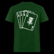 T-Shirts ~ Men's T-Shirt ~ Disc Golf Aces - Standard Weight Shirt - White Print on Back - Men's