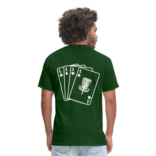 Disc Golf Aces - Standard Weight Shirt - White Print on Back - Men's