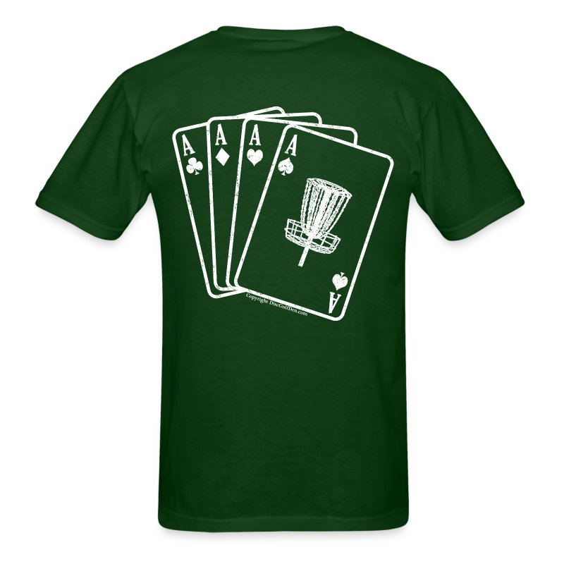 Disc Golf Aces - Standard Weight Shirt - White Print on Back - Men's - Men's T-Shirt