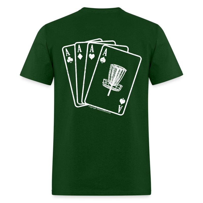 Disc Golf Aces - Standard Weight Shirt - White Print on Back - Men's - Men's T-Shirt
