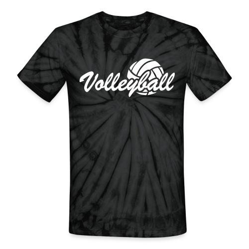 Tye-Dye Volleyball T-shirt - Unisex Tie Dye T-Shirt