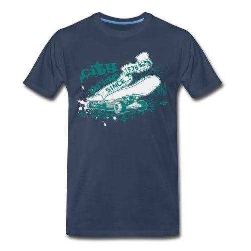 City Skateboard T-shirt - Men's Premium T-Shirt
